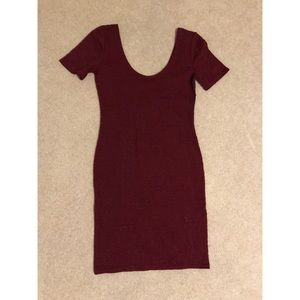 NWT Forever 21 Burgundy Body Con Dress